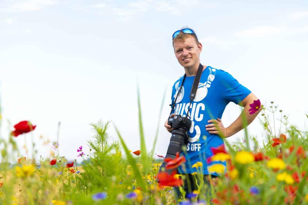 Fotoweekend Groninger Waddenkust Simon in de bloemenrand