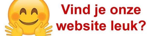 Vind je onze website leuk?