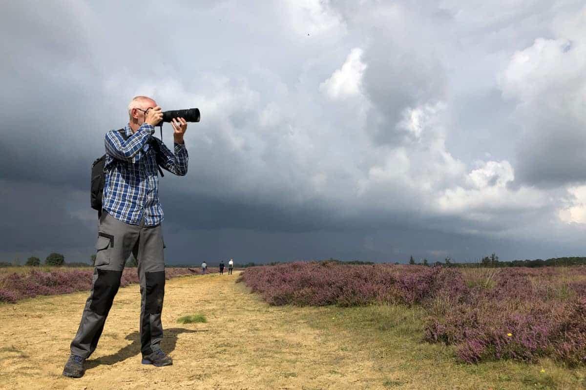 Fotoweekend Drenthe Jan aan het fotograferen