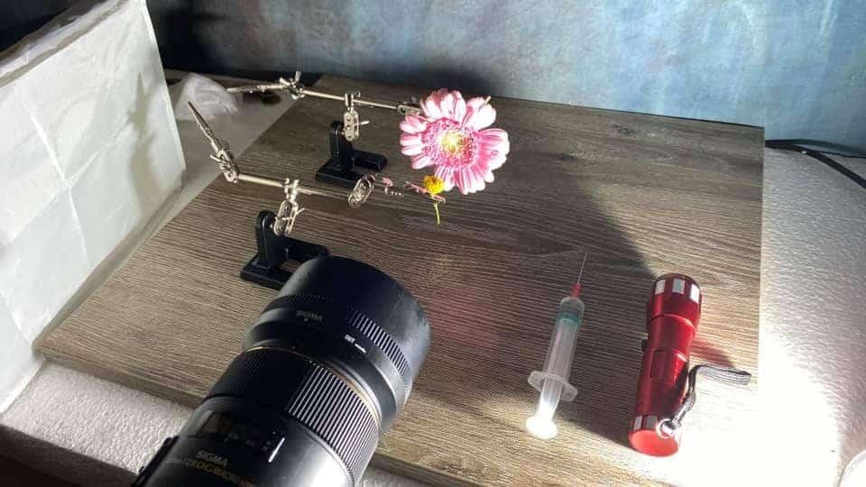 Fotografie tips reflectie in waterdruppel fotograferen