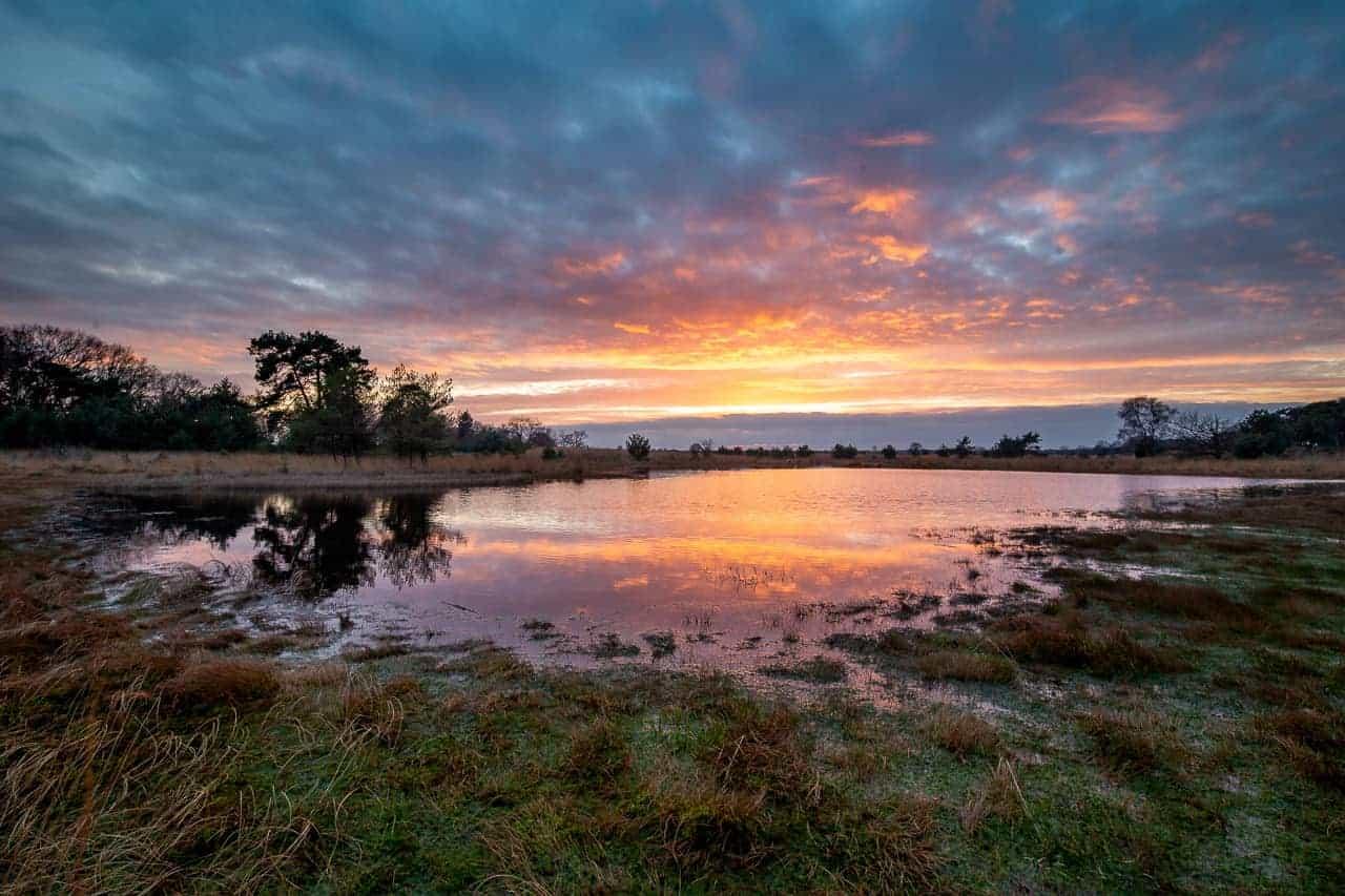 Zonsondergang tijdens het fotografie weekend Brabant
