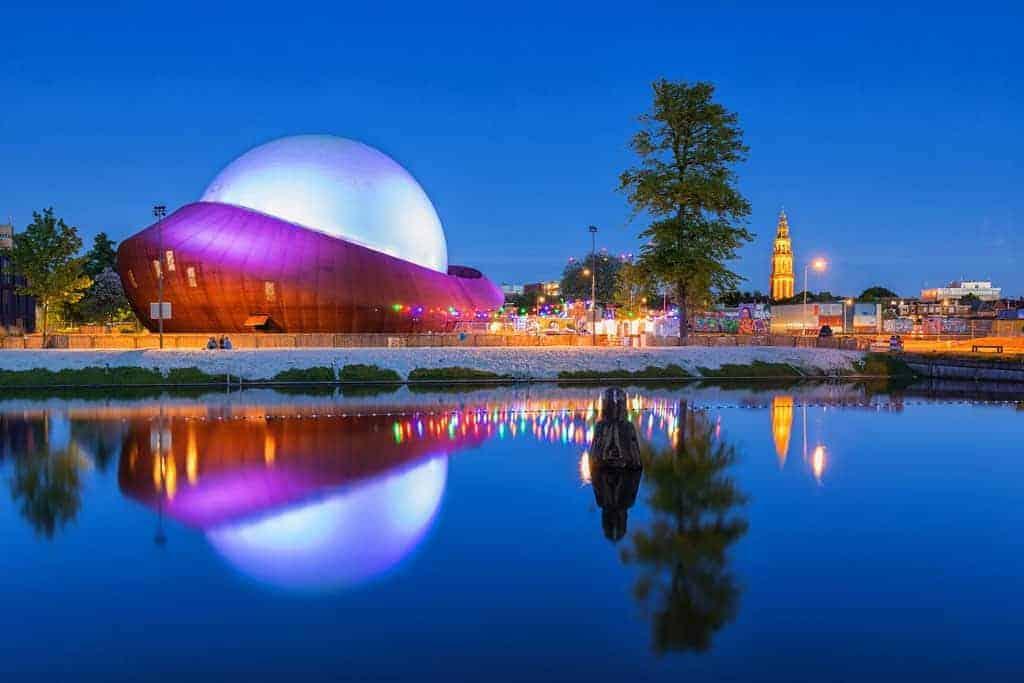 Fotografiecursus DOT Groningen bij avond