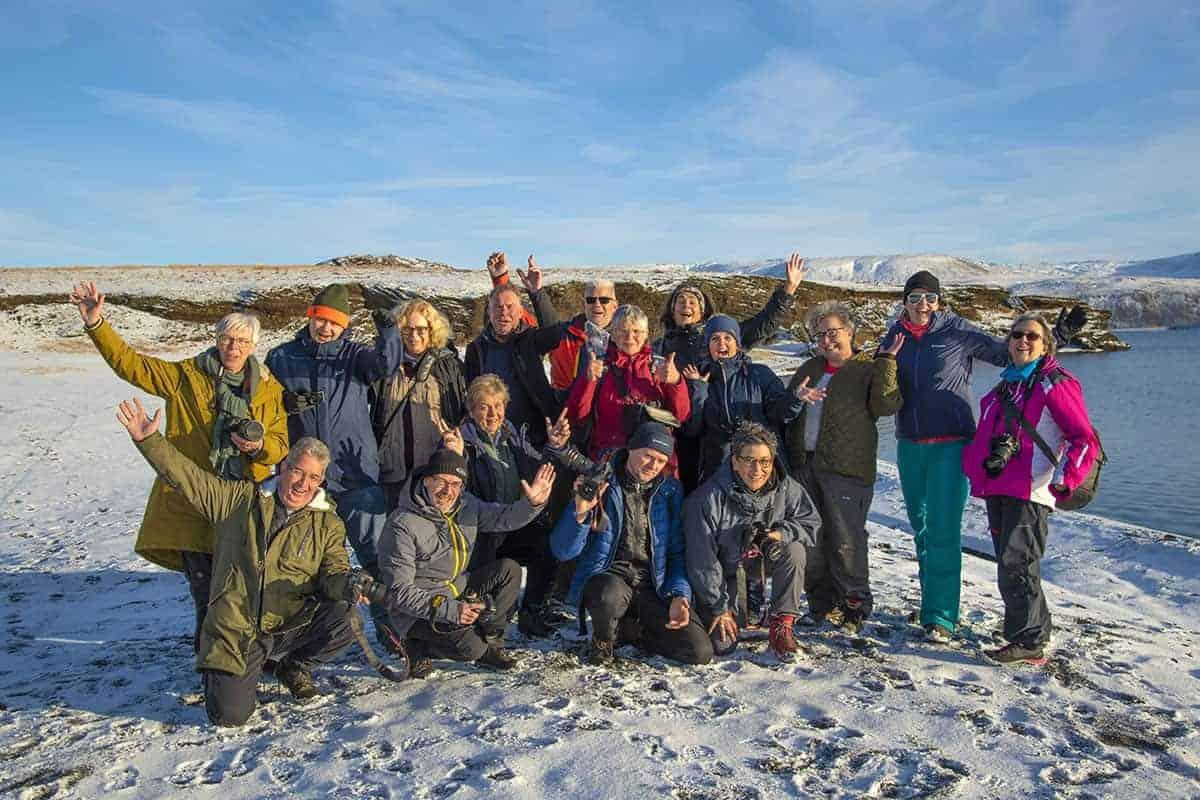 Groepsfoto - Fotografiereis IJsland
