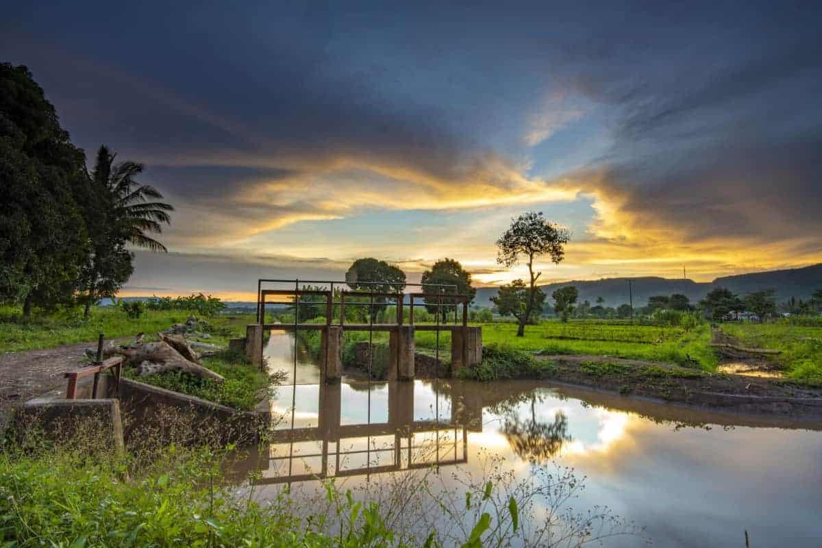 Fotoreis Afrika Zonsondergang rijstvelden Mto wa Mbu Tanzania