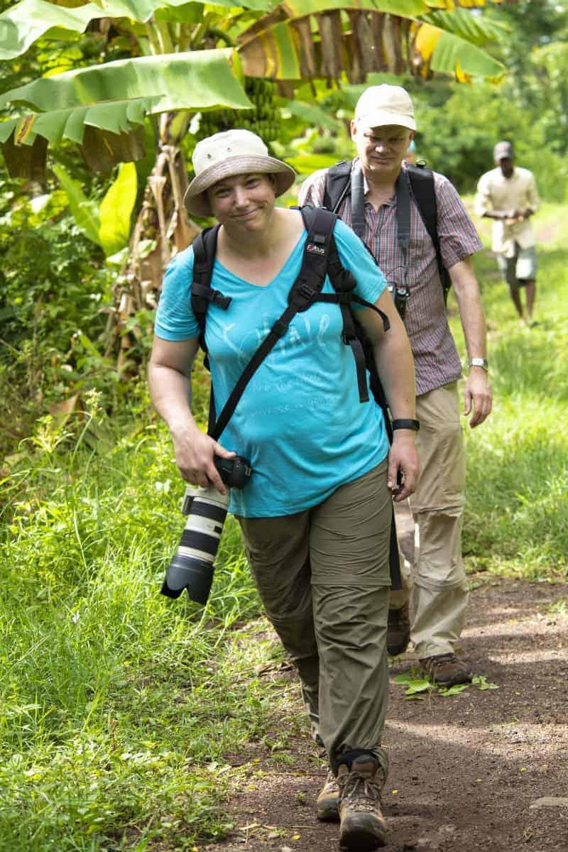 Deelnemer tijdens fotosafari Tanzania