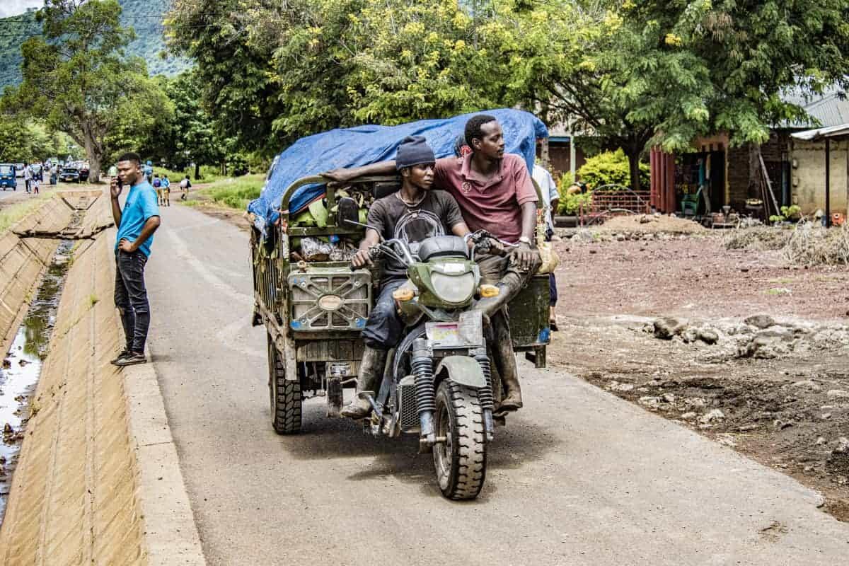 Straatleven Mto wa Mbu Fotoreizen Afrika