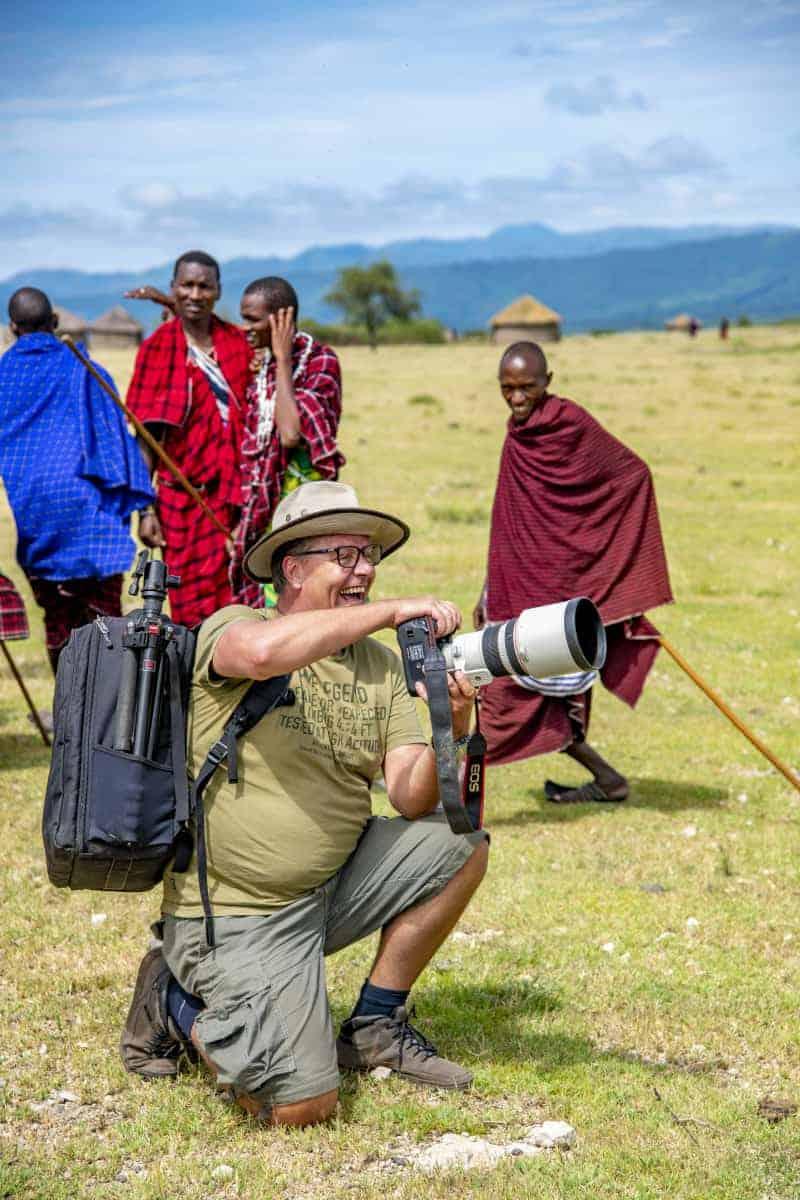 Fotoreis Afrika Tanzania Ruud bij de Masai