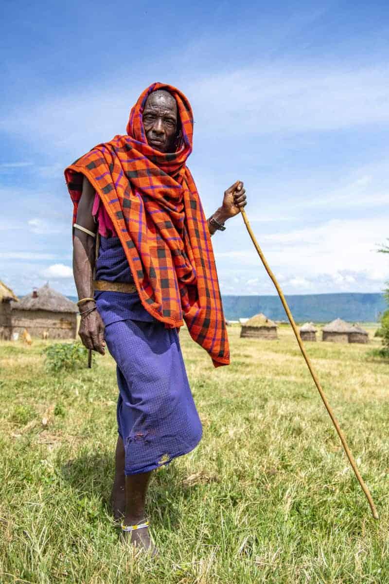 Masai krijger tijdens de fotoreizen door Afrika Tanzania