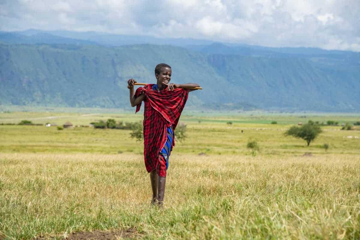 Masai jongen in Mto wa Mbu tijdens de fotoreis Afrika Tanzania