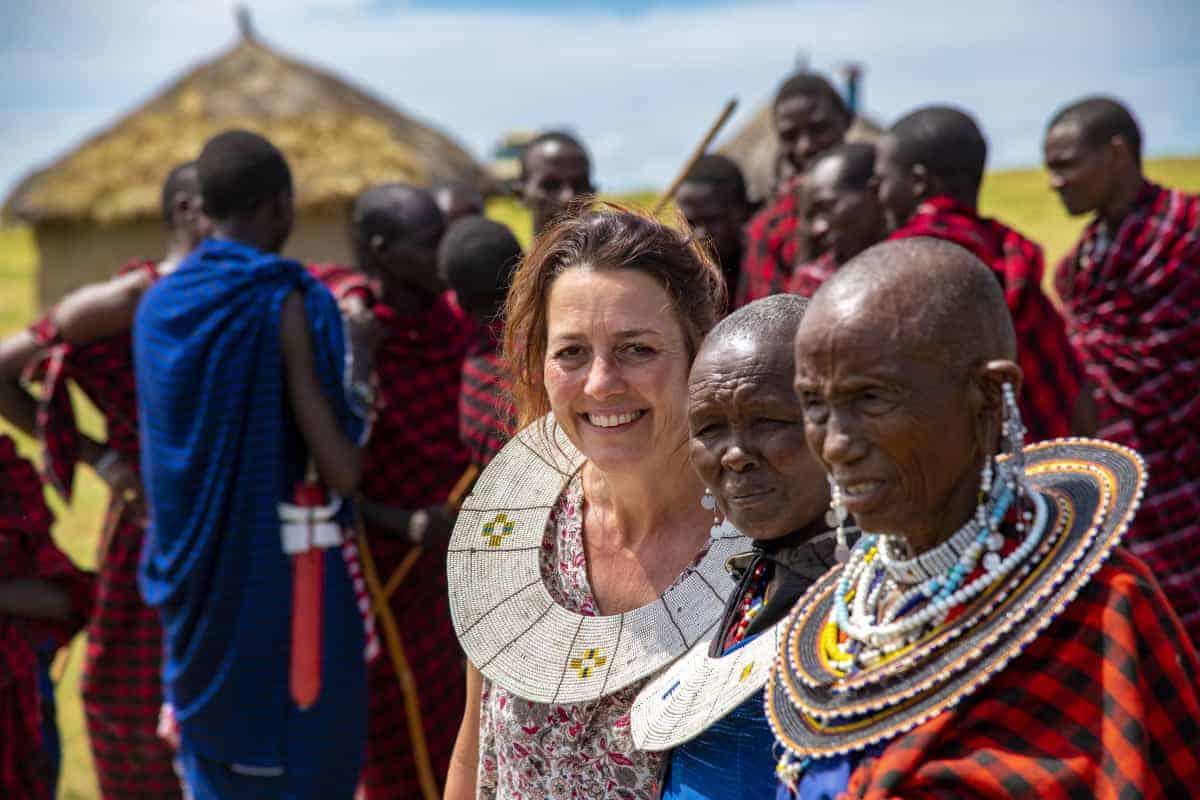 Astrid bij de Masai