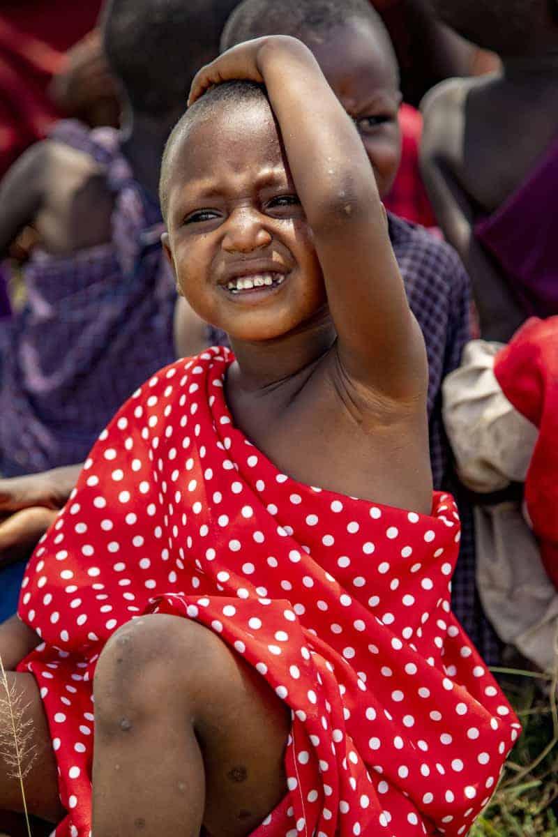Meisje in de 'klas' Fotoreis Afrika Tanzania