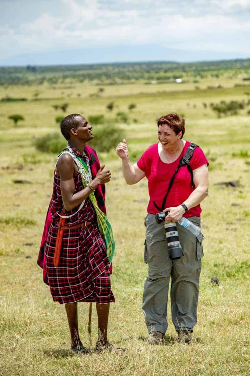 Fotoreis Afrika Tanzania Renate bij Masai