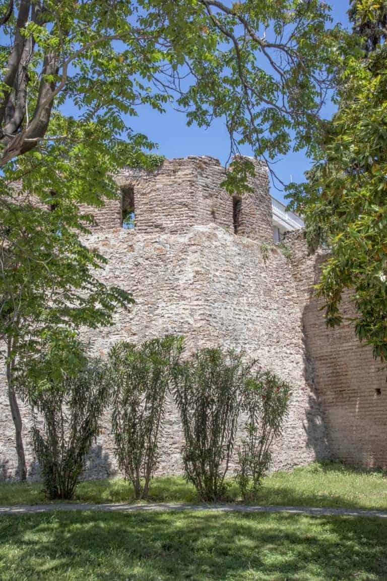 Fotoreis Albanië - Mozaiek tegels in een burcht in Durrës