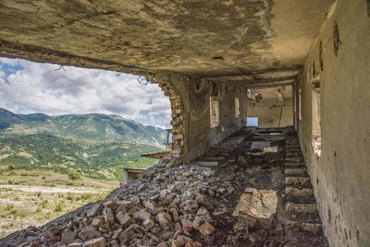 Oud gebouw in Albanie