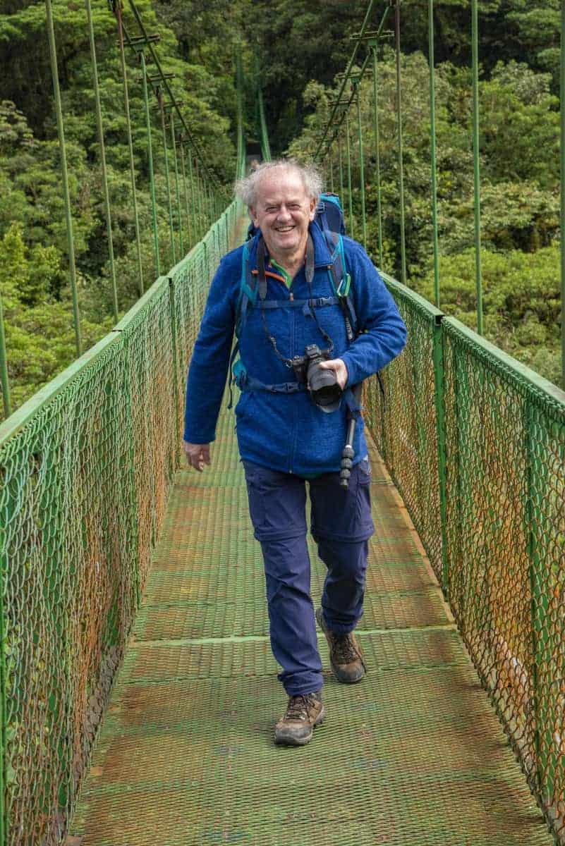 Hangende loopbruggen in Monteverde Selvatura Costa Rica.