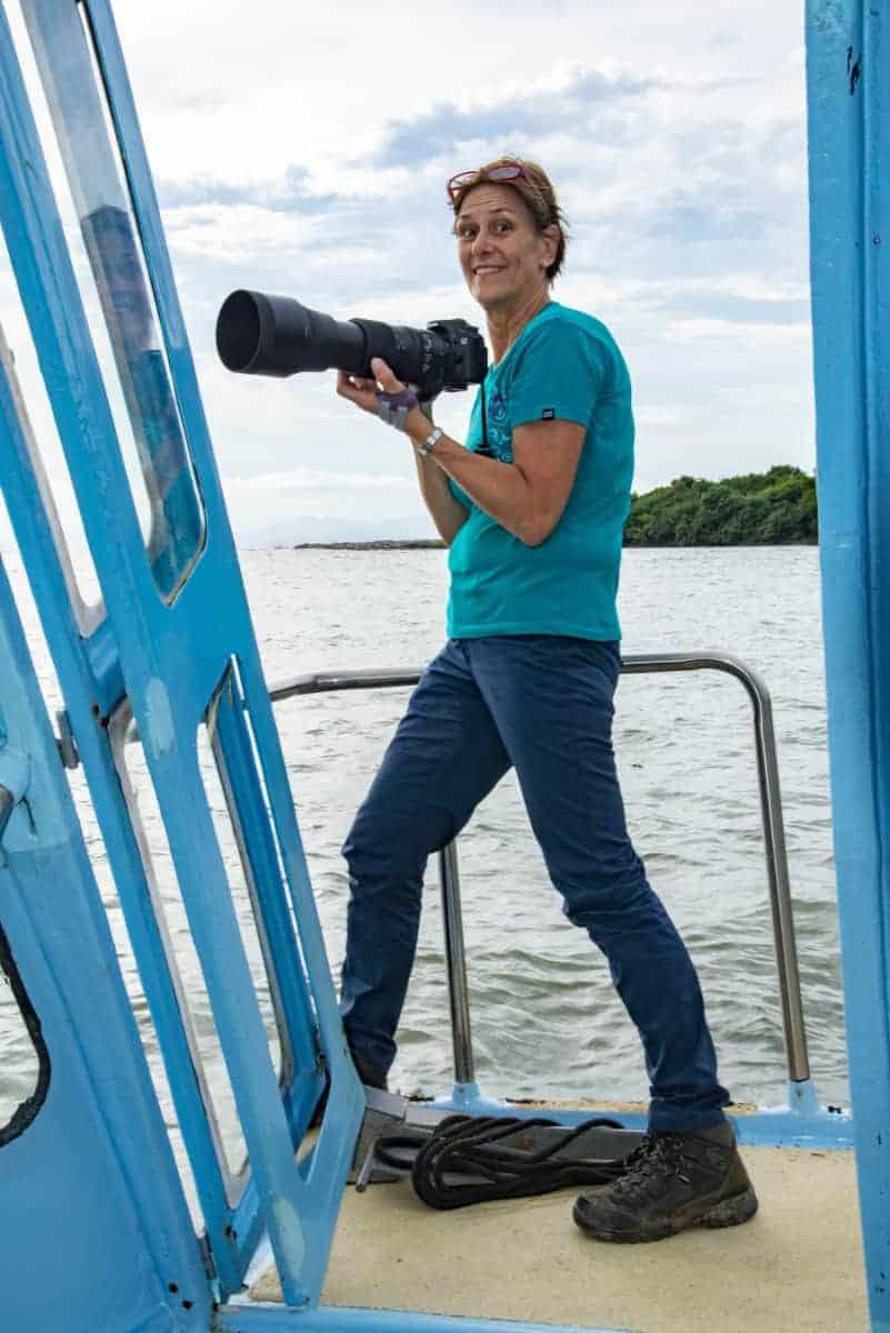 Op de boot tijdens de fotografiereis Costa Rica