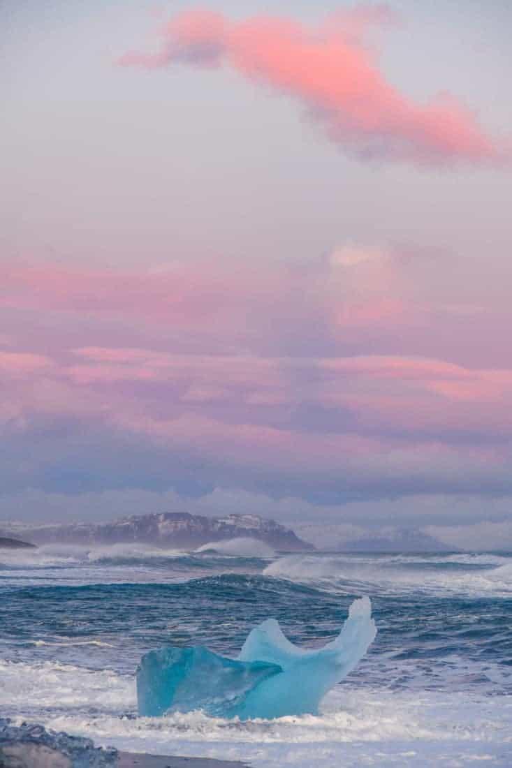 Fotoreis IJsland - IJsschots in pastelkleur