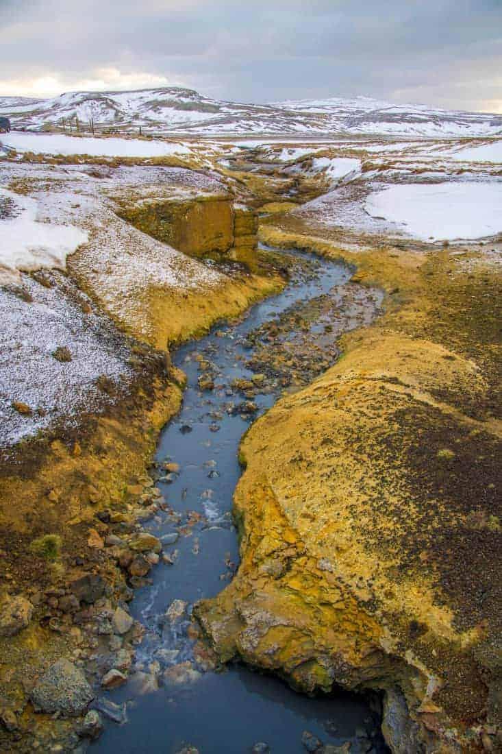 Fotoreis IJsland - Seltun met sneeuw