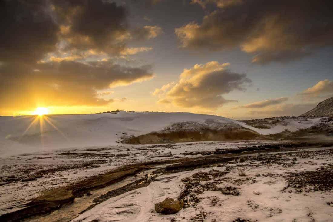 Fotoreis IJsland - Zonsopkomst bij Seltun