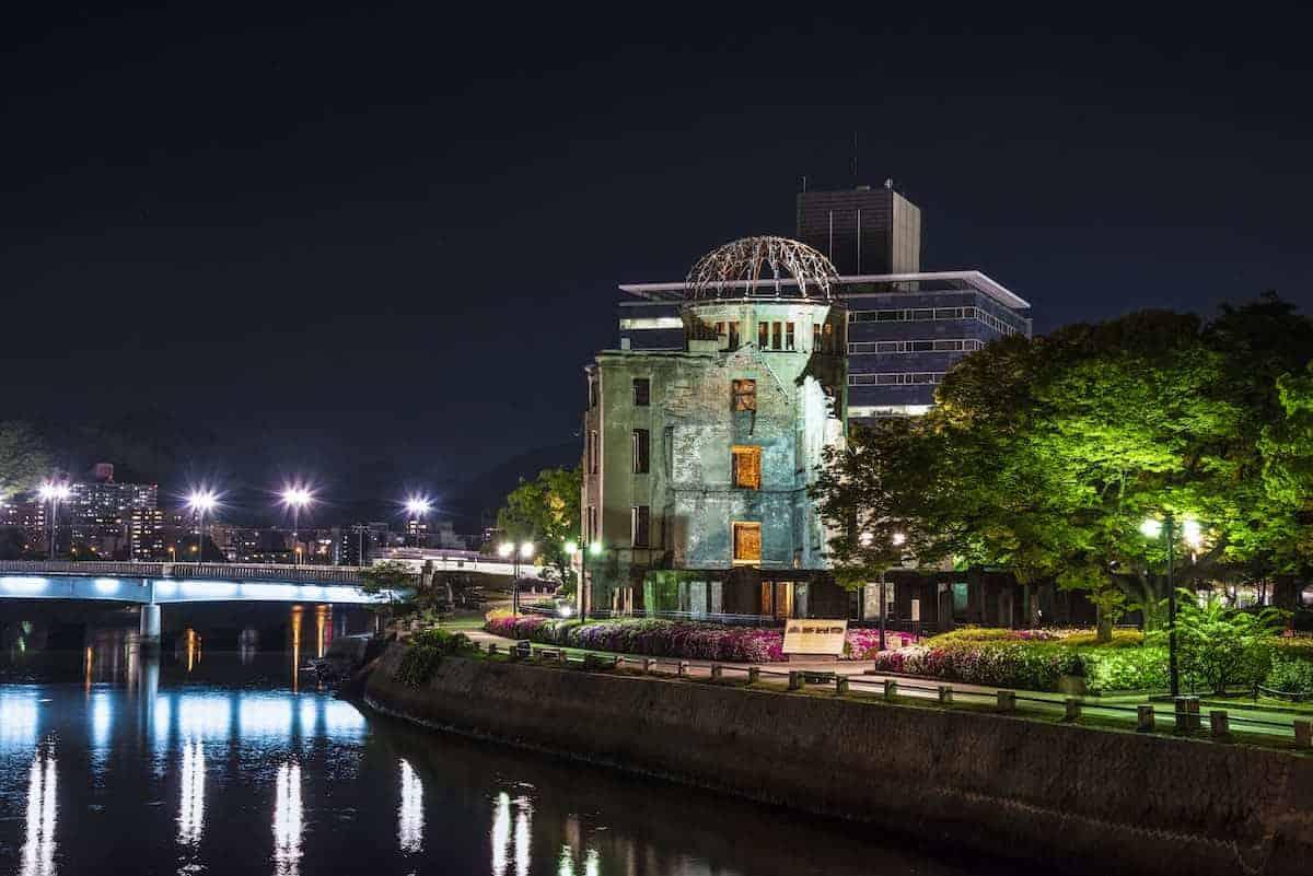 Fotoreis Japan Hiroshima bij nacht