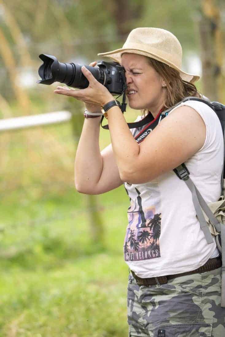 Fotoreis Kenia Tanzania - Andrea aan het fotograferen