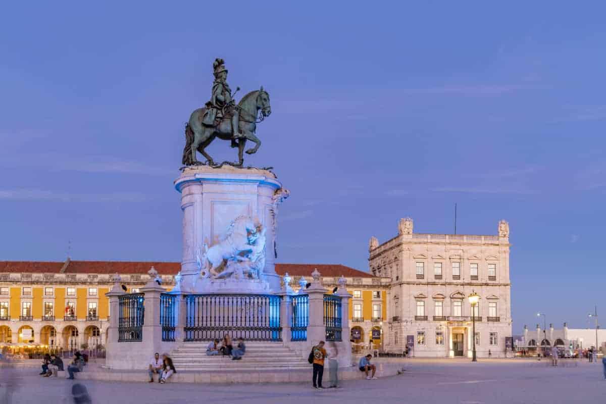 Praca do Comercio in Lissabon tijdens fotoreis