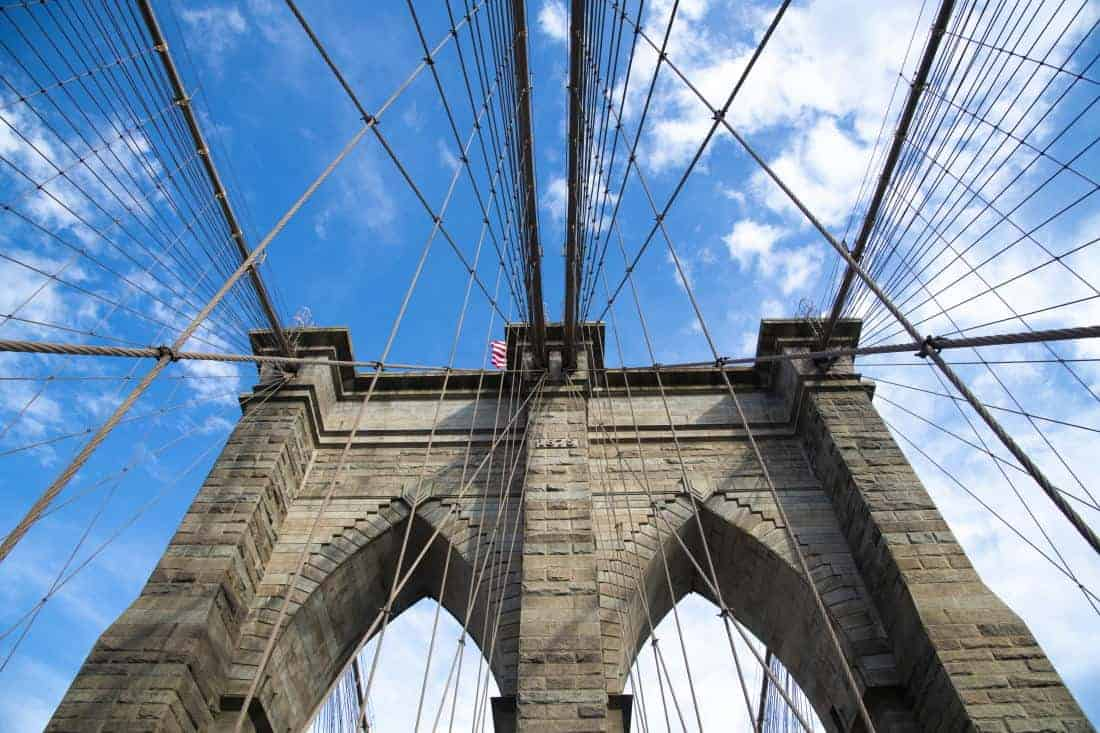 Fotoreis New York Brooklyn Bridge abstract
