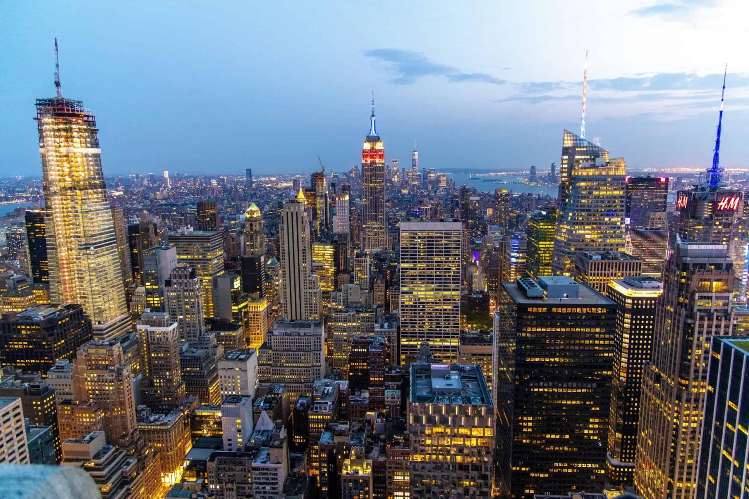 Fotoreis New York avond vanaf Top of the Rocks bij Fotografie-reizen - Fotoreizen