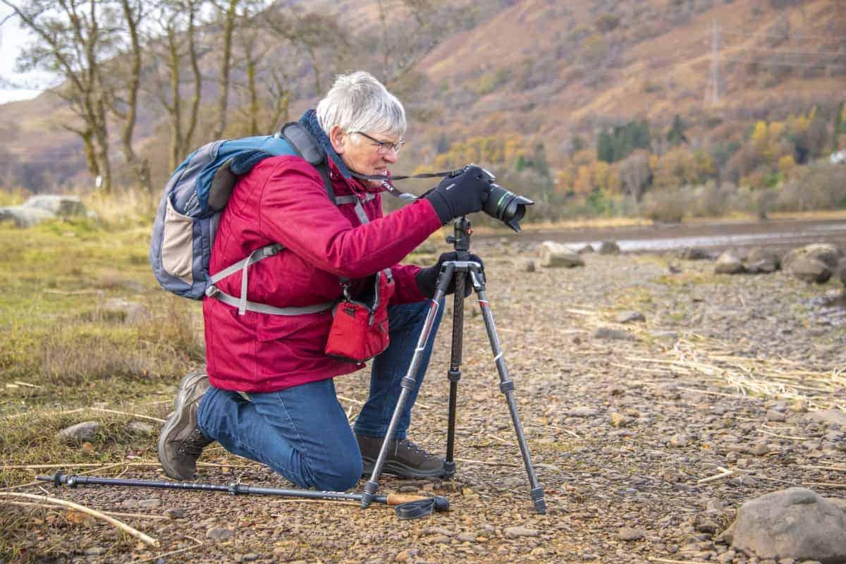 Hannie tijdens fotoreizen Schotland