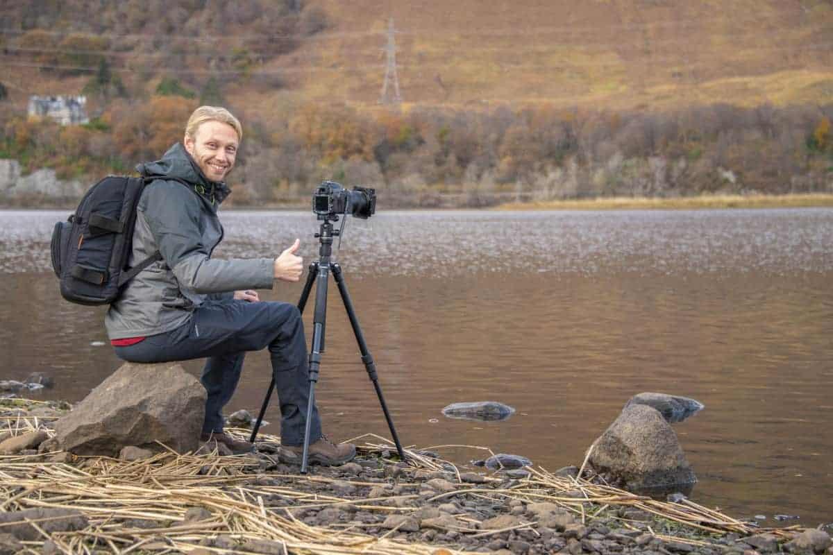 Arjan tijdens de Fotoreis Schotland
