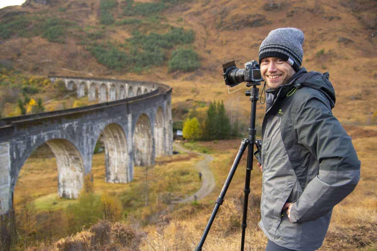 Fotoreis Schotland - Arjan bij Glenfinnan Viaduct
