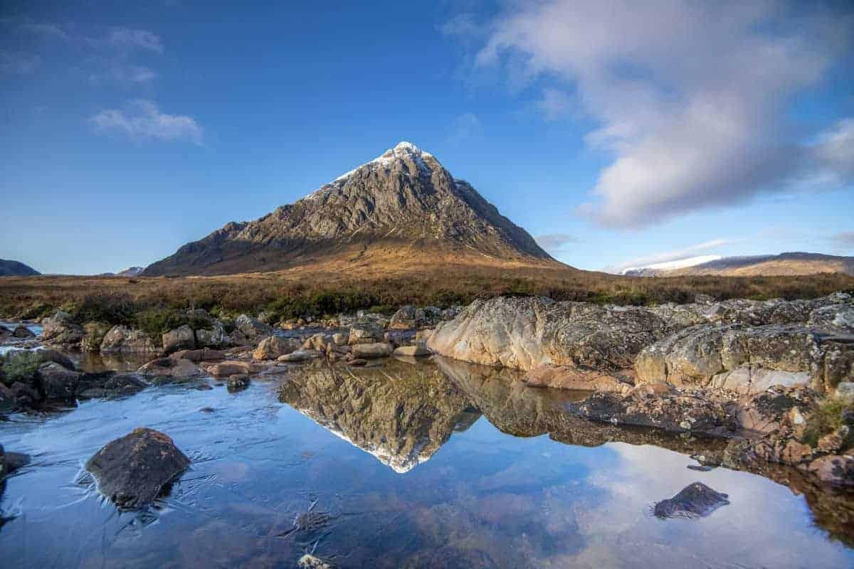 Fotoreis Schotland - Buachaille Etive Mor met spiegelbeeld