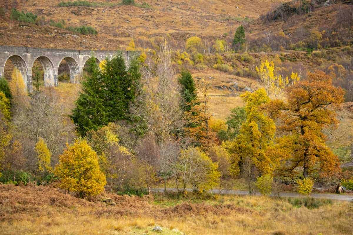 Fotoreis Schotland - Glenfinnan Viaduct in herfstsfeer