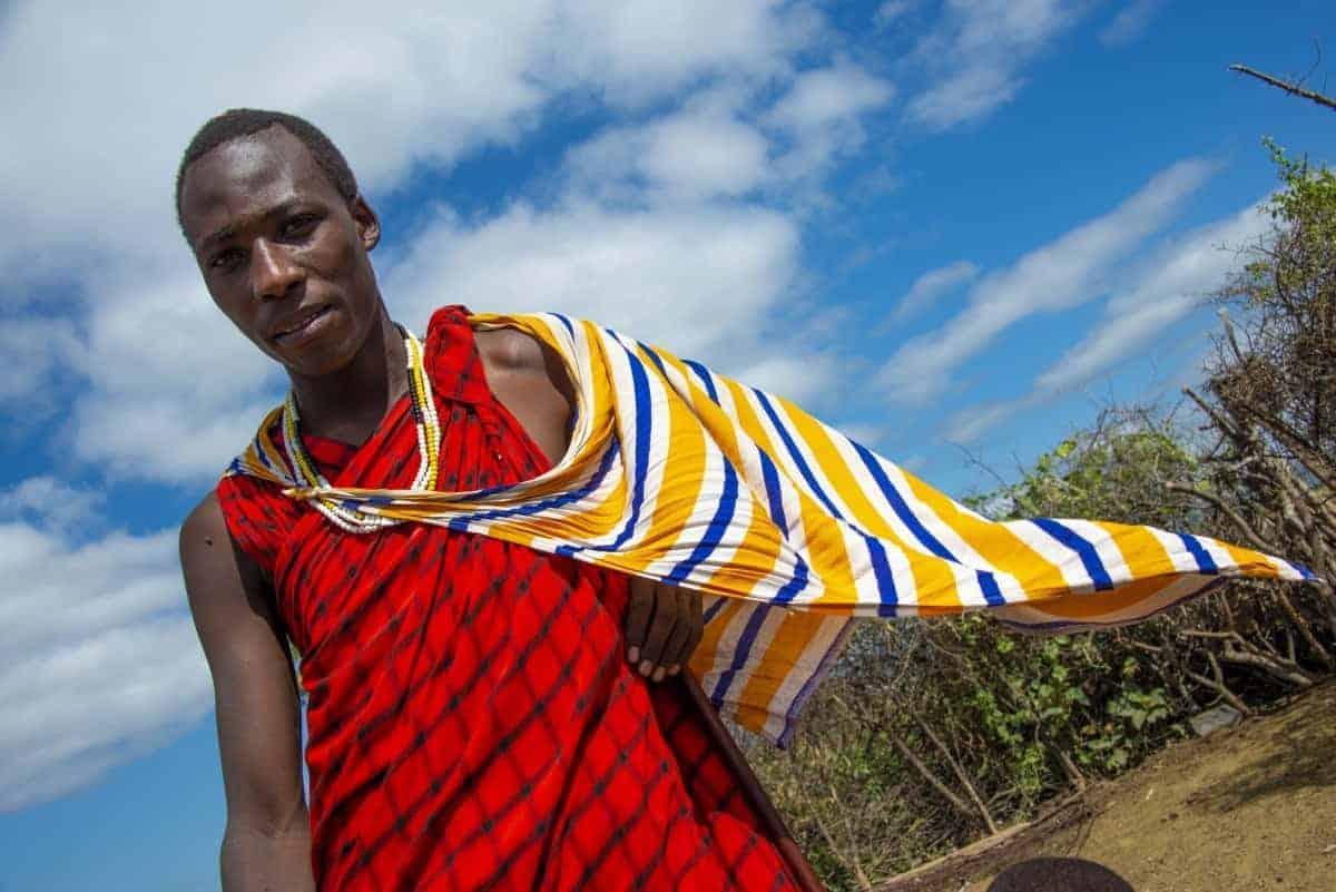 Fotoreis Tanzania Masai Mara man