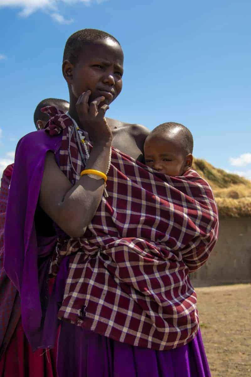 Fotoreis Tanzania Masai vrouw met kind