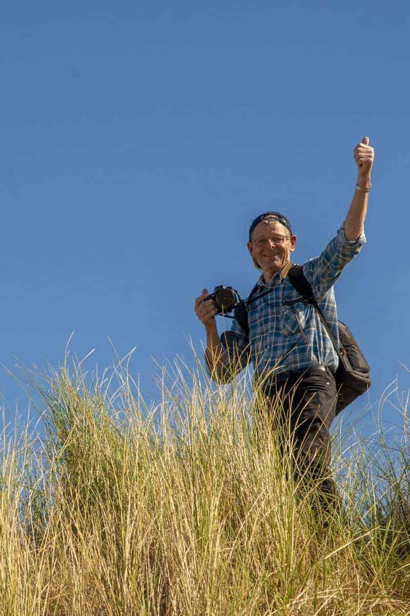 Fotoweekend Ameland - Deelnemer steekt duim omhoog