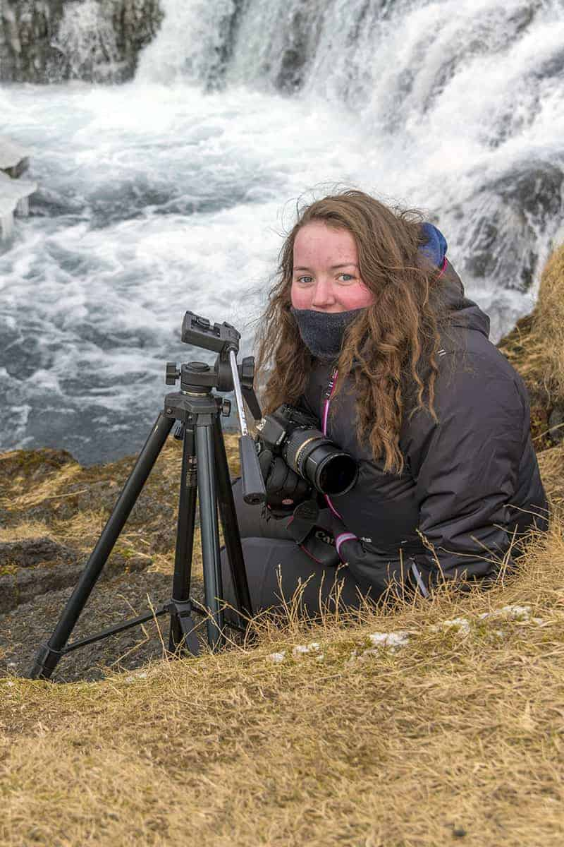 Fotoreizen IJsland - Marion bij waterval
