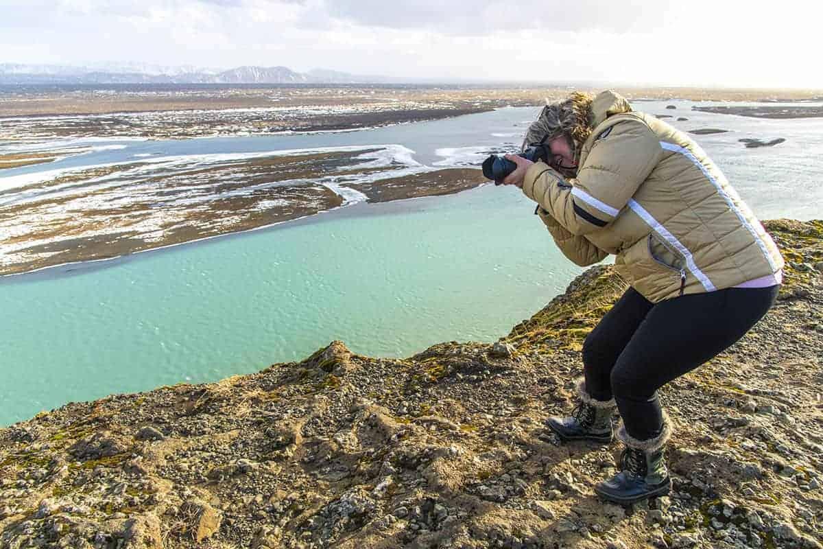 Fotoreizen IJsland Meta op uitzichtpunt