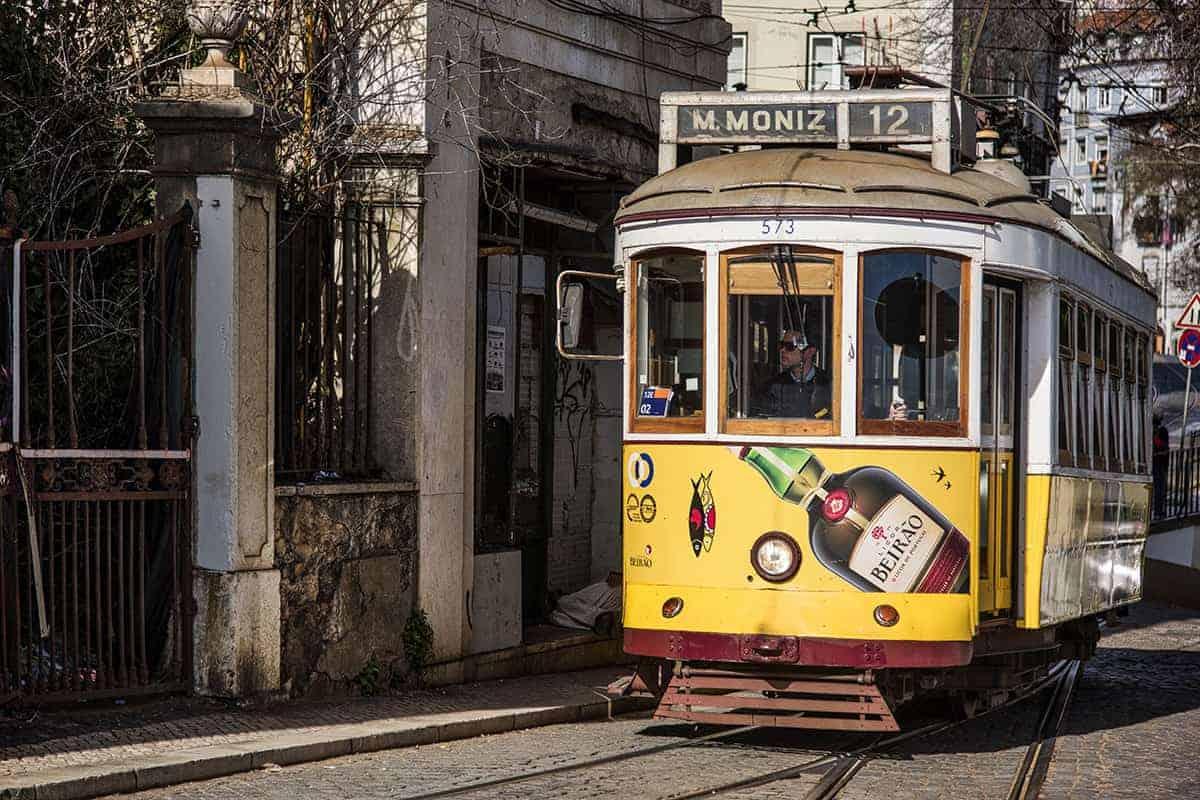 Fotoreizen Lissabon Portugal 85 tram 12