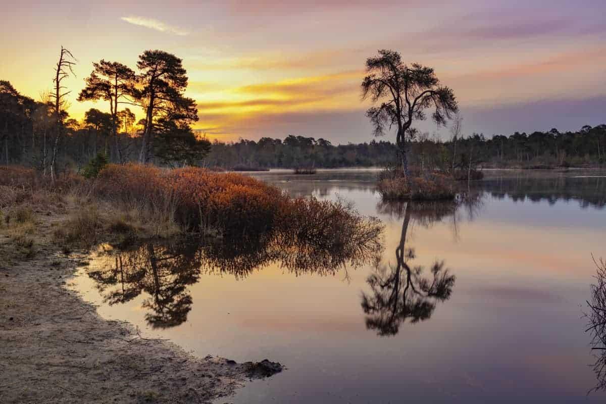 Zonsopkomst boven Voorste Goorven Fotoweekend Brabant