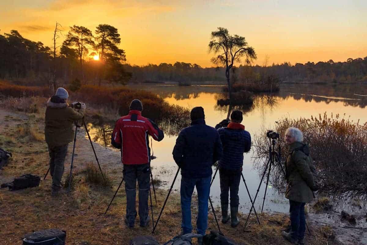 Fotoweekend Brabant deelnemers bij Voorste Goorven zonsopkomst