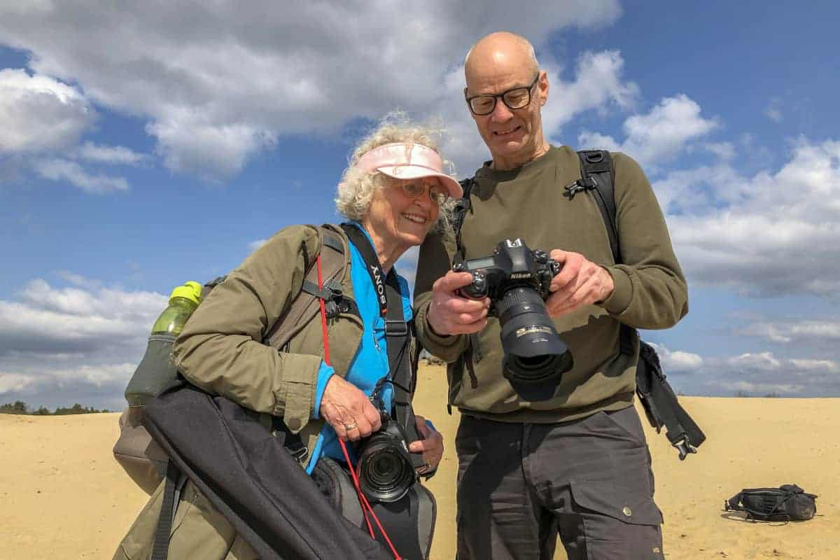 Fotoweekend Brabant deelnemers op de Lonense en Drunense duinen