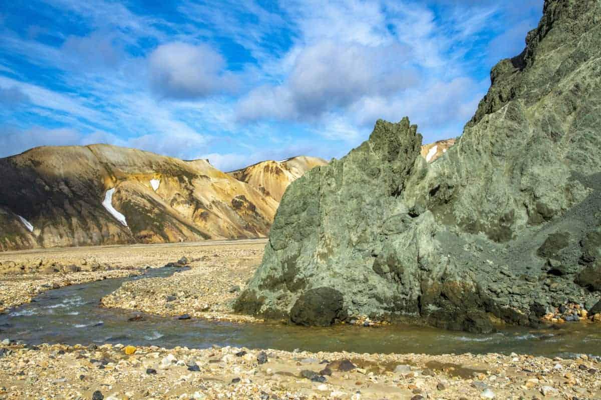 Gekleurde ryholietbergen in Landmannalaugar - fotografiereizen