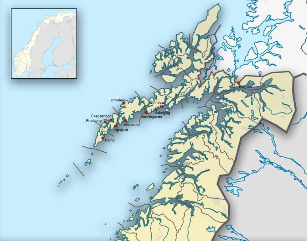 Kaart Lofoten - Fotografie-reizen