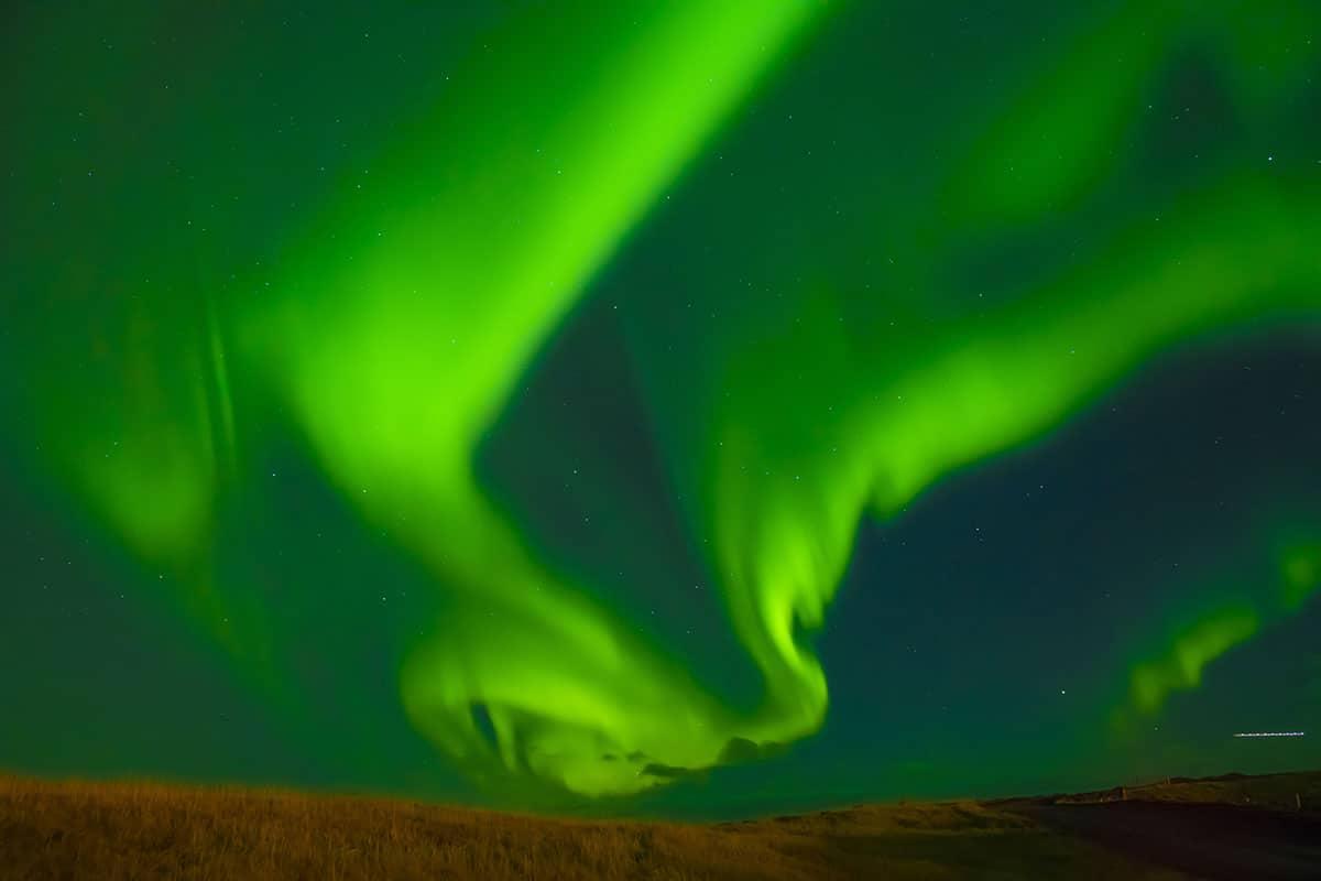Noorderlicht tijdens Fotoreis IJsland