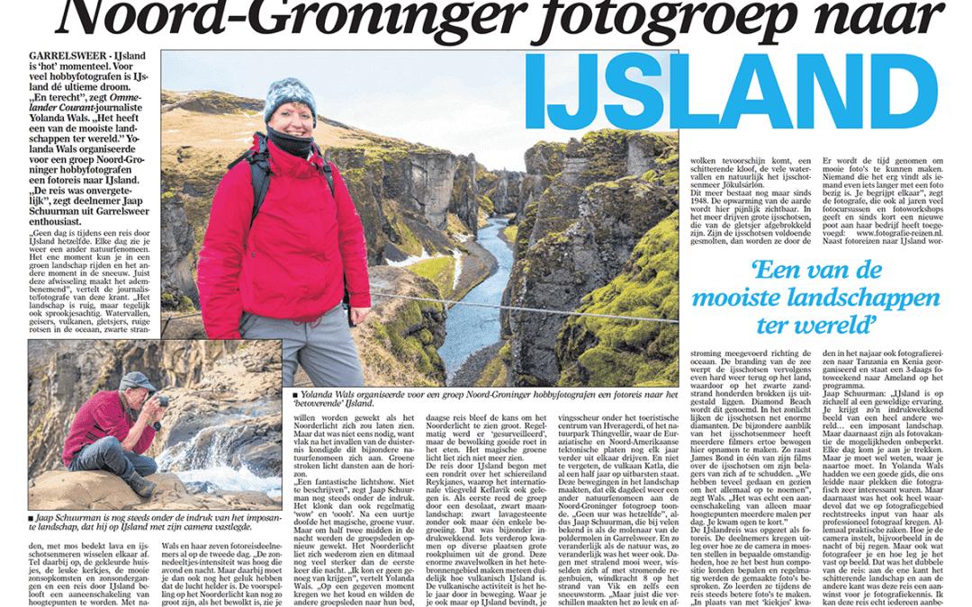 Verslag Fotoreis IJsland krantenartikel
