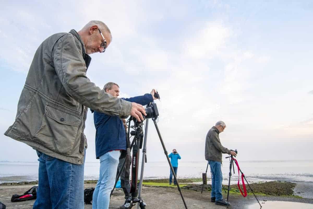 Workshop Filters Deelnemers aan de fotografie cursus in actief