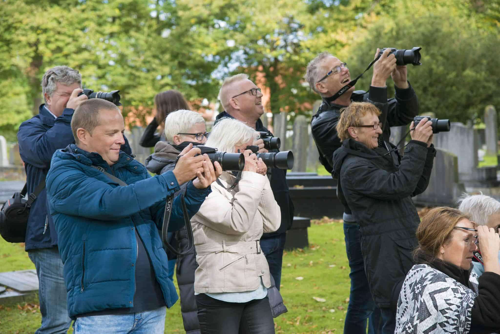 Cursisten bezig tijdens Praktijkdag Fotografie - Fotografie-reizen.nl