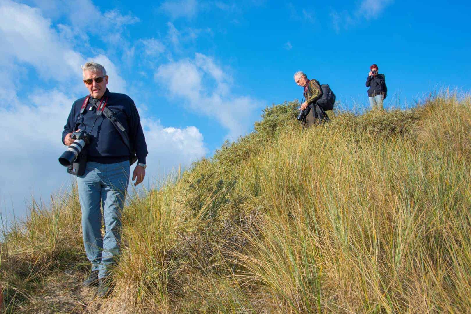 fotoweekend Ameland met camera in de duinen bij Fotografie-reizen - Fotoreizen